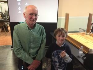 Tim Hunkin with Luke